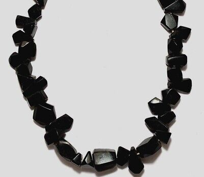 Fantastic Roman Restrung Necklace (Different Shapes Rare Black Stones) Beautiful