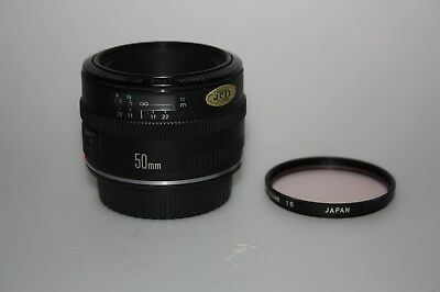 CANON 50mm F1.8 EF MARK 1 LENS (RARE)  CANON EOS FILM AND DIGITAL FIT,  MINT!!!!
