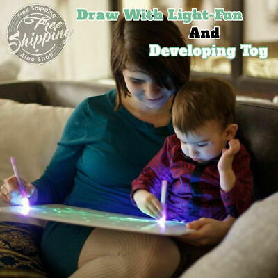 Draw With Light Fun And Developing Toy Drawing Board Draw Magic 2019 Educat H7L6