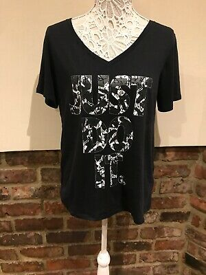 Nike Ladies Black Just Do It Top Size L Very Good Condition