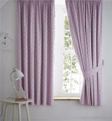Baby pink curtains total blackout for nursery or childrens bedroom windows