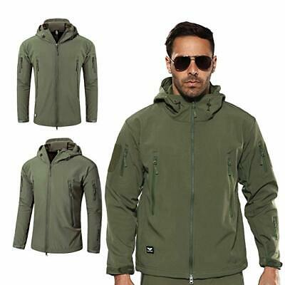 Men Outdoor Waterproof Soft Shell Jacket Tactical Winter Coat Military Army