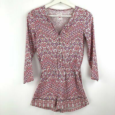 Pre-Loved Piping Hot Girls Long Sleeve Button Playsuit Pink Ladies Romper Size 9