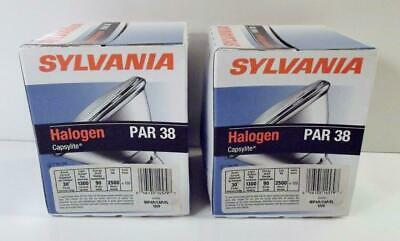2 Sealed SYLVANIA HALOGEN PAR 38 90Watt 120V Indoor/Outdoor FLOOD LIGHTS