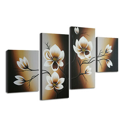 Original Hand Paint Canvas Oil Paintings Pic Wall Art Home Decor Abstract Floral
