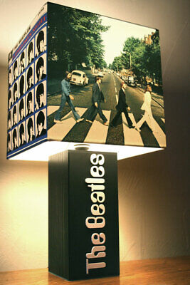 Handmade 'The Beatles' Lamp + Album Cover Lampshade, John Lennon, Paul McCartney
