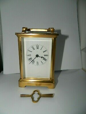 Antique Carriage Clock  Ex., Working Order With Key.