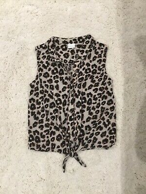 Girls Next Leopard print top Age 7-8 years