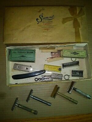 Vintage Mixed Safety Razor Lot Speedway Gillette Gem Sexto Urham Uplex Samoset