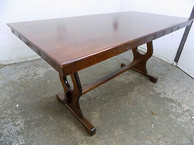 vintage,oak,refectory table,dining table,dark oak,carved,table,seat 8,dining