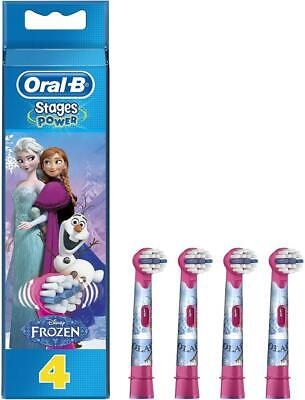 Oral-B Genuine Kids Stages Disney Frozen Replacement Pink Toothbrush Heads,...
