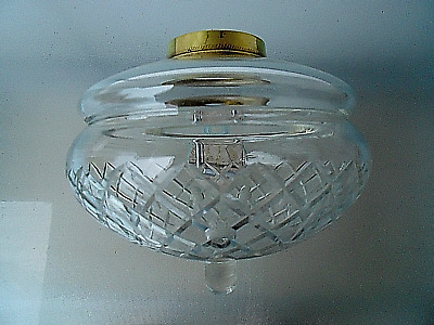 A Very Good Large Clear Glass Victorian Duplex Oil Lamp Font