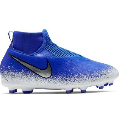 Nike JR Phantom VSN Academy DF FG/MG - Racer Blue/ White Cleat Soccer Shoes