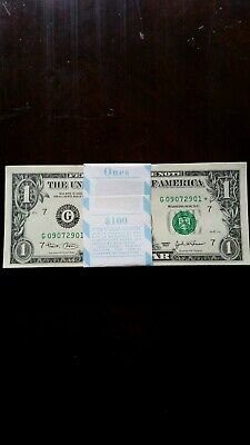 u.s.notes  100 times x  one dollar uncirculated
