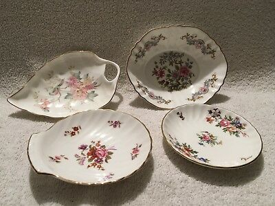 Group Of Vintage Mixed Bone China Dishes