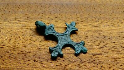 MEDIEVAL VIKING-STYLE BRONZE CROSS PENDANT 10-13th CENTURY