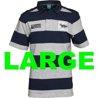 England Rugby World Cup 2015 Polo T Shirt Tee Jersey Large L Union RWC NOT 2019
