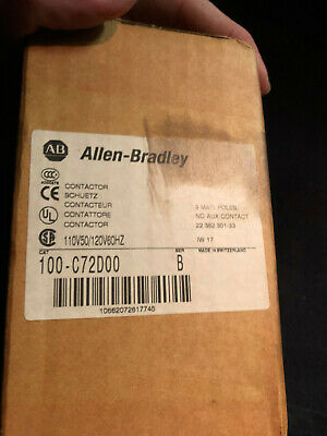 New Surplus Allen Bradley 100-C72D00 Series B Contactor With 100-S