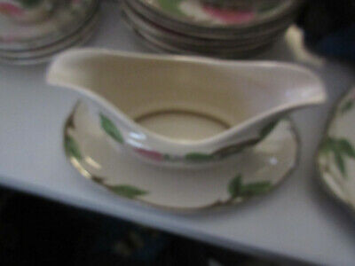 gravey boat with plate  Desert Rose Pattern, Franciscan Ware China,