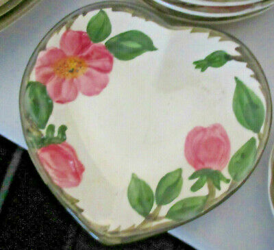 heart candy dish Desert Rose Pattern, Franciscan Ware China,