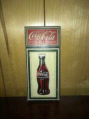 Coca-Cola Wooden Sign Delicious Refreshing 11x5""