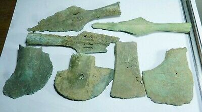 Lot of 7 Vietnamese antiques Dong Son Culture Bronze spears and Bronze Axes