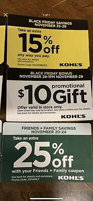 3 Kohls Coupons 15% Off $10 Promo & 25% Off In Store/online