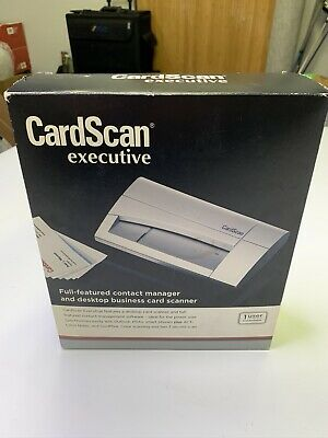 Dymo Cardscan 800c Executive Business Card Color Scanner For