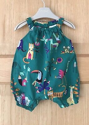 NEXT *NEWBORN *BABY GIRLS Animal Playsuit Romper One Piece Outfit 0-1 MONTH