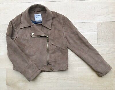 NEXT *9y GIRLS FAUX SUEDE COAT JACKET AGE 9 YEARS