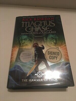SIGNED Rick Riordan Magnus Chase: Hammer Of Thor Hardcover Autographed