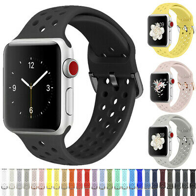 Silicone Sports Wrist Band Strap For Apple iWatch Series 5/4/3/2/1 38/42/40/44mm