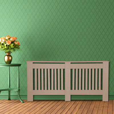Radiator Cover Natural New MDF Modern Heating Protecto Cabinet Wall Home Shelf