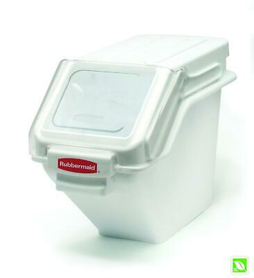 Rubbermaid Commercial Shelf Ingredient Bin with Scoop, 100-Cup Capacity, White,