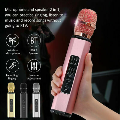 New Wireless Microphone Karaoke Handheld Speaker Phone Player Speaker Record