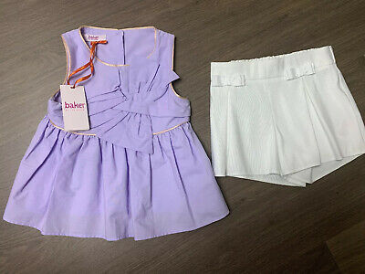 New Ted Baker Girls Outfit Set Top And Shorts Size 4-5 Years