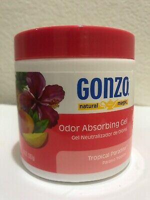 Gonzo  Natural Magic💕Tropical Paradise Scent Odor Absorber  New14 oz. Gel(B)