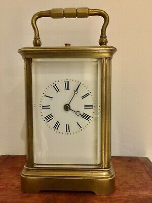 Small Antique Corniche Striking Repeating Carriage Clock Fully working, original