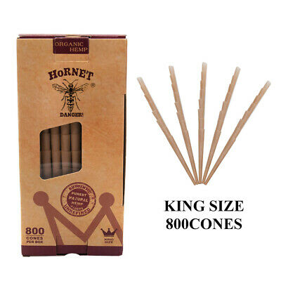 HORNET 1 Box Natural Pre-Rolled Rolling Papers Classic King Size Rolling Cones
