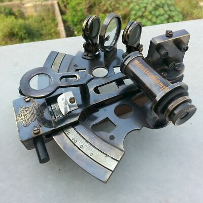 Antique Brass Marine Sextant Astrolabe Solid Maritime Nautical Vintage Gift Deco