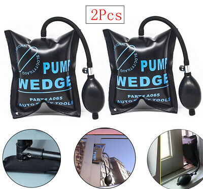 2 Pack Air Pump Wedge Inflatable Bag Shim For Auto Car Door Window Entry Tools