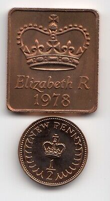 1978 SHIELD & 1/2p In PROOF Condition an Extremely Nice 1/2p coin    (2004)