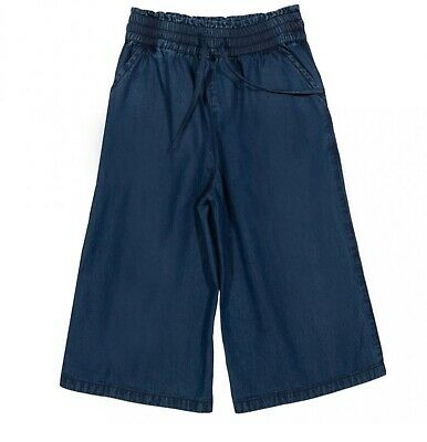 Girls Age 4 years Chambray Cropped Culottes Denim Look Kite Organic NEW RRP £26