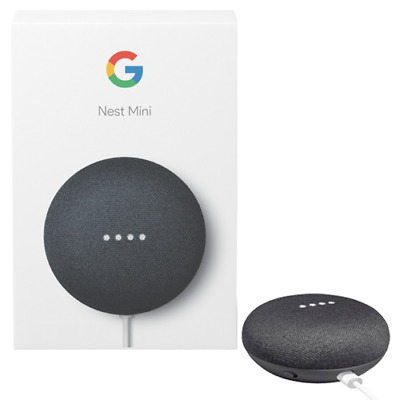 Google Nest Mini 2 Nero Assistente Vocale Originale Modello 2019
