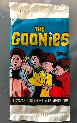 The Goonies Unopened Topps Uk Ireland Bubbble Gum Pack/Wrapper Scarce