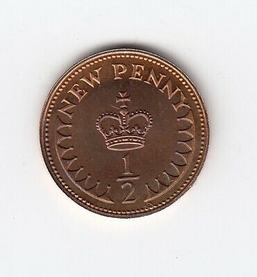 1980 HALF PENNY 1/2p PROOF Mirror Matt Finish Extremely Nice 1/2p piece  (1524)