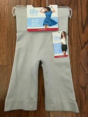 Life by JOCKEY Women's Smoothing Coverage SLIPSHORTS Size SMALL Color Gray NEW