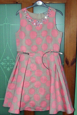 Beautiful  party dress I love Girlswear full skirted lined age 12