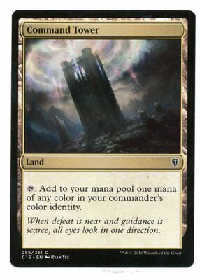 LP Commander 2016 Free Shipping MTG *Command Tower X4* Playset