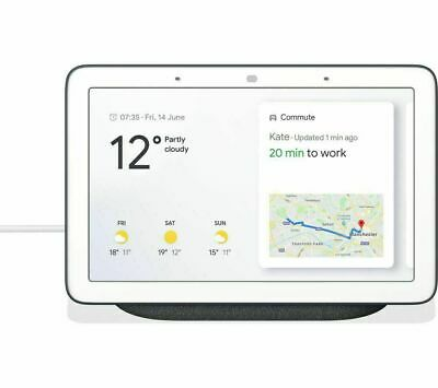 Google Home Hub Smart Voice Assistant with Touch Screen - Charcoal